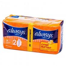 Прокладки Always ultra normal 4 капли с крыльями 20шт. .
