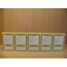 Ценники лист картон 45х65мм (5) 100шт. овал цветные