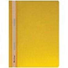 Папка скоросшиватель А4 желтая пластик .