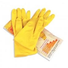 Перчатки хозяйственные латекс 1пара Gloves L (8.5-9) (1/25пар)