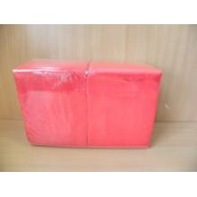 Салфетки бумажные 24х24см 400шт. 1-слойные красные .