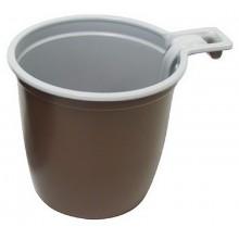 Чашка д/кофе 0,2л коричневый пластик одноразовая (1250/2000)