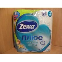 Бумага туалетная Zewa Плюс 4шт. 2-слойная океан