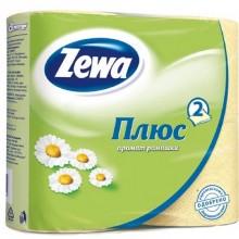 Бумага туалетная Zewa Плюс 4шт. 2-слойная ромашка .