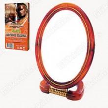Зеркало двухсторонее настольное оправа пластик среднее овальное арт.Е066