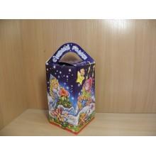 Коробка новогодняя д/подарка 800г Звездочка картон арт.ПДУ42477 (250)