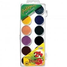 Краски акварельные 24 цветов медовые Пчелка коробка пластик арт.212035