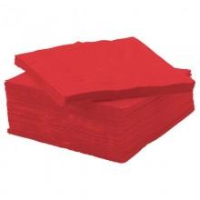 Салфетки бумажные 24х24см 50шт. 1-слойные Salfatex красные .