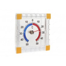 Термометр уличный биметалл квадратный, круглый на блистере арт.ТББ,473-036 Союзпластик,Гала-Центр