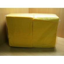 Салфетки бумажные 24х24см 400шт. 1-слойные жёлтые .