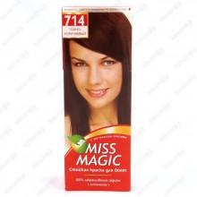 Краска д/волос Miss Magic № 714 темно-коричневый