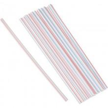 Трубочка-соломка 250шт. d7/ 8мм длина 24см без изгиба цветная .