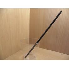 Трубочка-соломка 250шт. 8мм длина 24см без изгиба чёрная