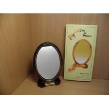 Зеркало двухсторонее настольное оправа пластик среднее овальное арт.Е065