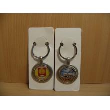 Брелок Серпухов 2-х сторонний круглый металл в пакете Артстудия