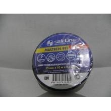 Лента изоляционная 15ммх10м черная SafeLine Дельта-плюс