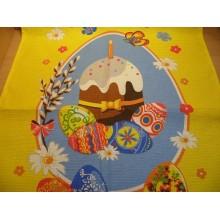Полотенце вафельное 36х70см Пасхальное с рисунком без упаковки . Садов