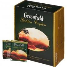 Чай чёрный Greenfield 100 пакетиков в коробке /9