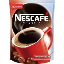 Кофе растворимый гранулированный Nescafe classic 150г в пакете /12