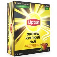 Чай чёрный Lipton 100 пакетиков в коробке /12