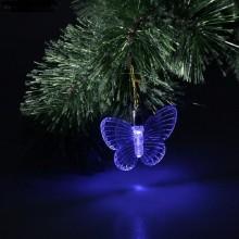 Фигурка-подвеска светодиодная Бабочка 10см пластик на блистере арт.704846 без батареек