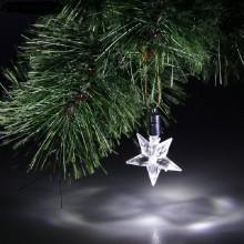 Фигурка-подвеска светодиодная Звезда 8см пластик в пакете арт.704848 без батареек