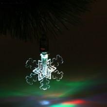 Фигурка-подвеска светодиодная Снежинка малая 7,5см пластик в пакете арт.1077312 без батареек