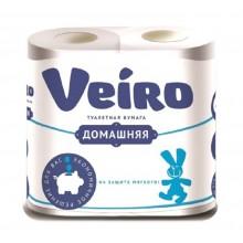 Бумага туалетная Veiro Домашняя 4шт. 2-слойная белая арт.1С24