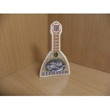 Колокольчик Серпухов Балалайка h 8,5см керамика в пакете .