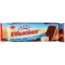 Печенье Юбилейное молочное с глазурью 116 г в пачке /60