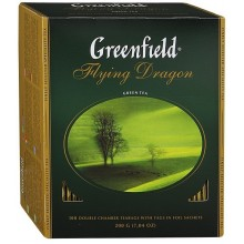 Чай зеленый Greenfield 100 пакетиков в коробке /9