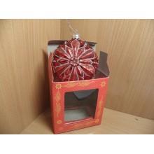 Фигурка-подвеска Аленький цветочек h 13,2см стекло в коробке арт.39245