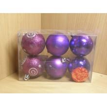 Шар пластик d 60мм Фиолетовое ассорти без упаковки (6) арт.35521