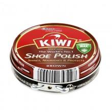 Крем д/обуви Kiwi коричневый . 50мл банка металл .