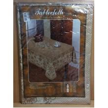 Скатерть винил 110х140см прямоугольная коричневая Tablecloth,Полат ласе Фантастик,Садовод