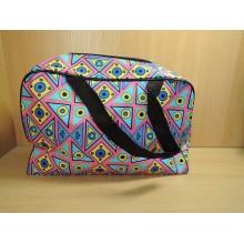 Косметичка-сумочка на молнии прямоугольная 23х14х10см клетка клеенка