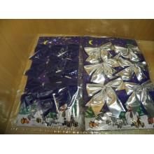Бант Синий/серебро ткань 9см без упаковки арт.471089 (6)