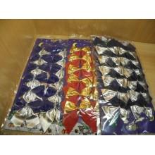Бант Синий/красный/серебро ткань 6см без упаковки арт.471119,471102 (12)
