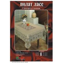 Скатерть винил 137х180см прямоугольная коричневая Садовод