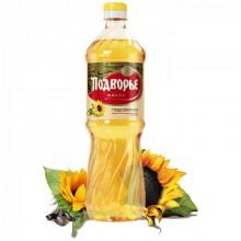 Масло Подворье подсолнечное рафинированное 0,9 л в бутылке пластик /15