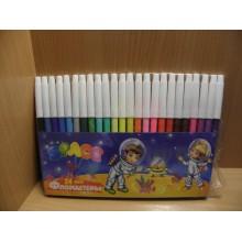 Фломастеры цветные 24 цвета Space конверт пластиковый арт.WCP24_917,18571 ArtSpace