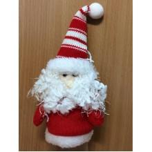 Сувенир-подвеска мягкий Дед Мороз красный высота 25см арт.1421-140148