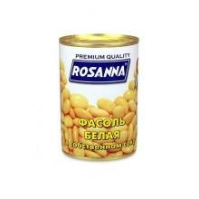 Фасоль белая консервированная Rozanna 400г банка металл /24