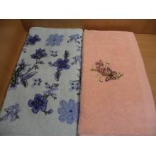 Полотенце махровое хлопок 30х70см цветное без упаковки Садов