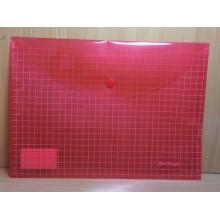 Папка на кнопке А4 клетчатая пластик арт.04309 Berlingo
