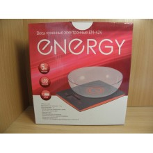 Весы кухонные чашечные электроника до 5кг Energy EN-424 в коробке арт.159652 Висс