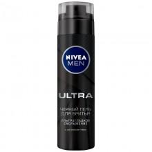 Гель для бритья Nivea 200 мл Ultra черный с активным углем арт.81789