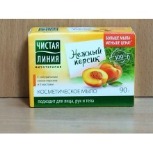 Мыло Чистая линия 90 г персик