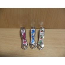 Книпсер д/ногтей Цветы ручка металл на блистере малый