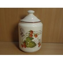 Банка д/сыпучих продуктов 0,56л Малина цилиндр керамика в коробке арт.05-0001 В